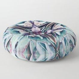 Colours of Succulents Floor Pillow