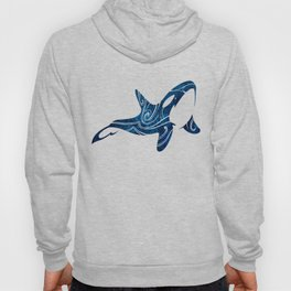 Tribal Orca 2 (blue) Hoody