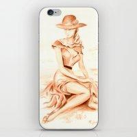 erotic iPhone & iPod Skins featuring Nostalgic erotic woman - Retro Style by Marita Zacharias