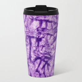 Purple Waves and Ripples Textured Wavelet Paint Art Travel Mug