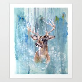 Deer Flow Art Print