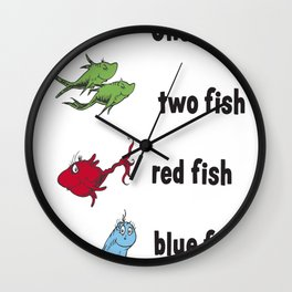One fish two fish copy Wall Clock