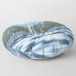 Calm Lake Sailboat Floor Pillow