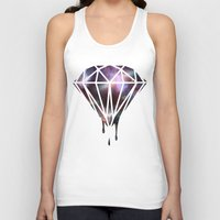 diamond Tank Tops featuring Diamond by jeff'walker