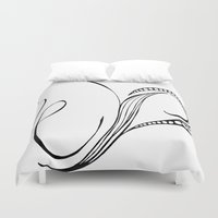 cassia beck Duvet Covers featuring Cassia Kalkora by Jennifer Broderick