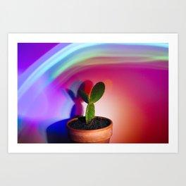 Supercolor Cactus Art Print