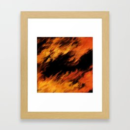 Infernal Agni #fire #burn Framed Art Print