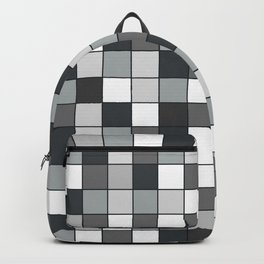 Square compound pattern Backpack