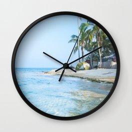 The San Blas Islands in Panama. Isla Iguana Wall Clock