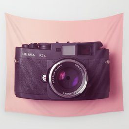 #03_BessaR3a#pink#film#effect Wall Tapestry