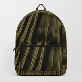 Gold and Black Fractal Backpack