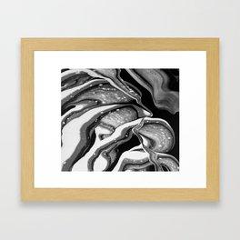 Perspicuity, acrylic fluid pour art Framed Art Print