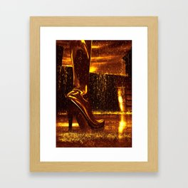 Shiny Boots of Leather Framed Art Print