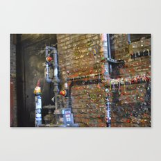 Gum Wall Gnome- Seattle Canvas Print