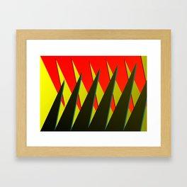 Saw teeth Framed Art Print