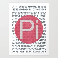 pi Art Prints featuring Pi by sonsofwolves