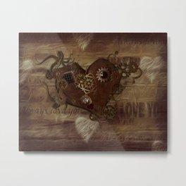 Steampunk Love Metal Print