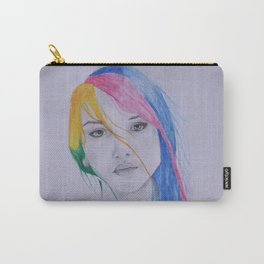 The girl with rainbow hair Carry-All Pouch