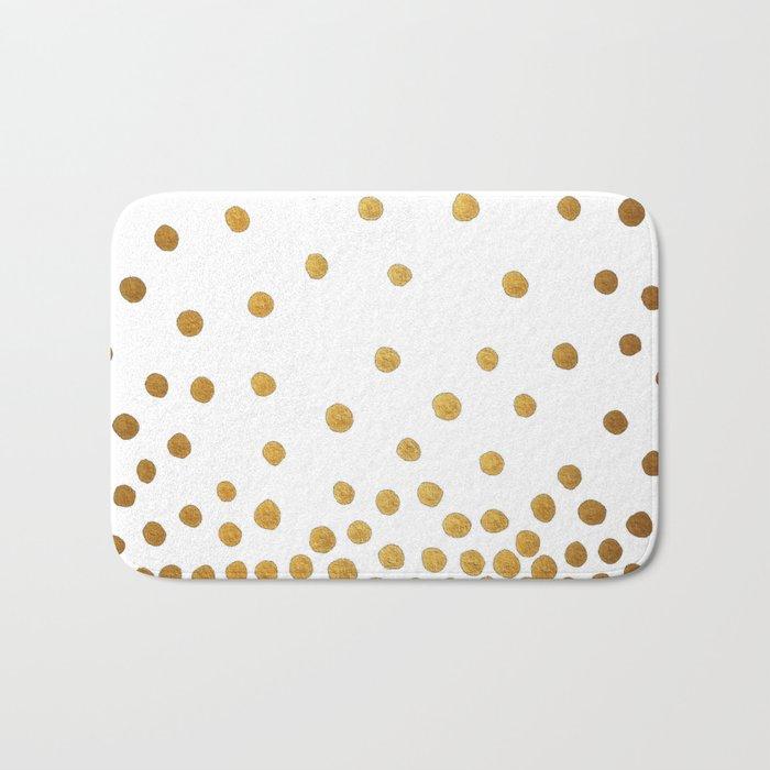 Gold Bubbles Bath Mat