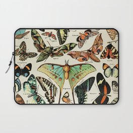 Papillon I Vintage French Butterfly Charts by Adolphe Millot Laptop Sleeve