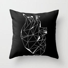 Heart Black Throw Pillow