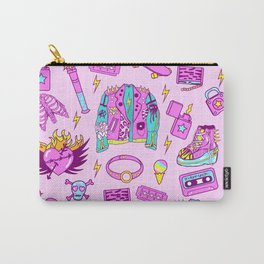 Pink Punk Girly Pattern Carry-All Pouch