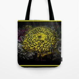 Black yellow art Tote Bag
