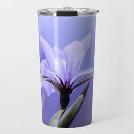 The Blue Flag Iris, full blue bloom Travel Mug