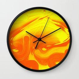 Orange Inside Yellow Wall Clock