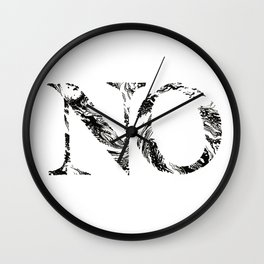 No marbled and fancy Wall Clock