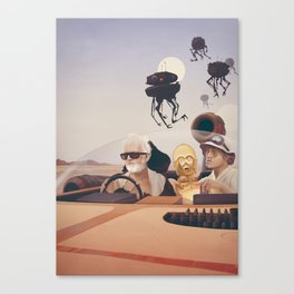 Fear and Loathing on Tatooine Canvas Print