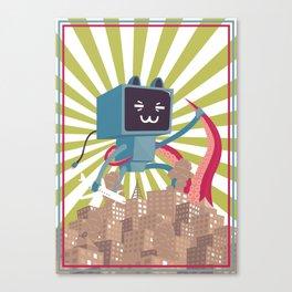 Go Go Mecha Kitty Canvas Print