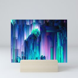 Glitches Be Trippin' - Abstract Pixel Art Mini Art Print