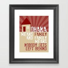 Ohana Means Family - Lilo & Stitch Framed Art Print