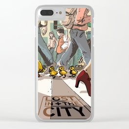 Lost in the city Clear iPhone Case
