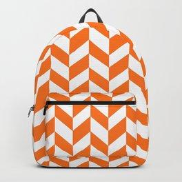 Herringbone Texture (Orange & White) Backpack
