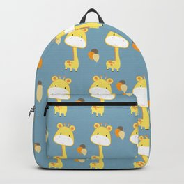 Cute Giraffe Pattern with Balloons Backpack