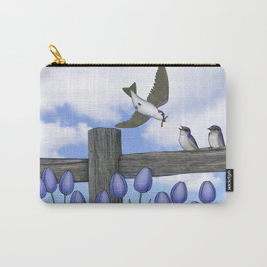 purple martin fledges Carry-All Pouch