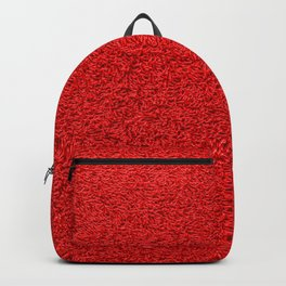 Rose Red Shag pile carpet pattern Backpack