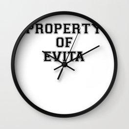 Property of EVITA Wall Clock