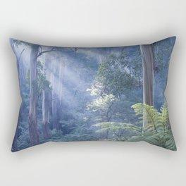 Tree ferns basking in evening light Rectangular Pillow