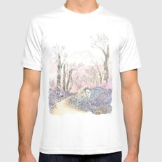 3/3 Magic Feral Woods White Mens Fitted Tee MEDIUM