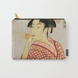 Japanese Art Print - Kitagawa Utamaro - Ten Expressions of Japanese Women - 1 (1790) Carry-All Pouch