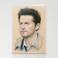 castiel Stationery Cards featuring Castiel by Stormwolf Studios