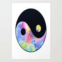 ying yang Art Prints featuring Ying Yang by Johnny Rockets