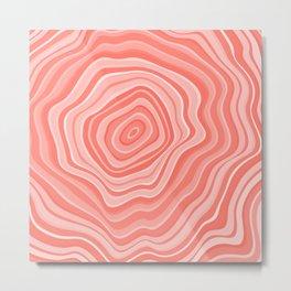 Melting Pink Coral Metal Print