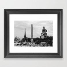 Place de la Concorde Framed Art Print