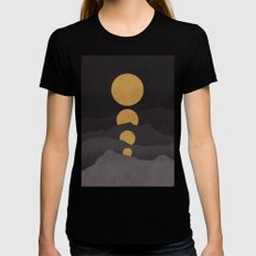 Rise of the golden moon Black SMALL Womens Fitted Tee