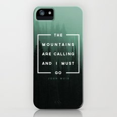The Mountains are Calling Slim Case iPhone (5, 5s)