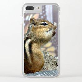 Chipmunk Spunk Clear iPhone Case
